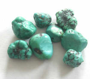Turquoise nugget beads - Natural  Blue Stones