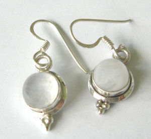 Moonstone silver earrings  (ME11)