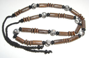 Wooden Bead Necklace African (NKwood3)