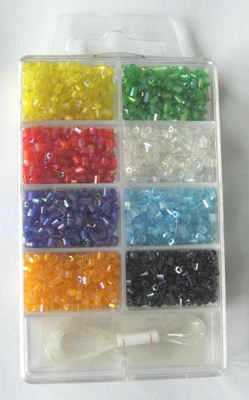 Bead kit for beginners with mixed coloured beads (kit4)