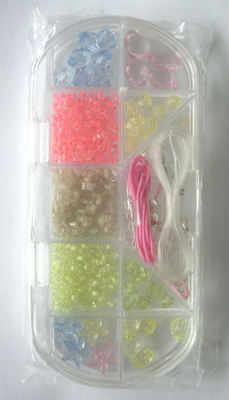 Bead kit for beginners with mixed coloured beads (kit5pk)