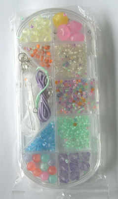 Bead kit for beginners with mixed coloured beads (kit5mv)