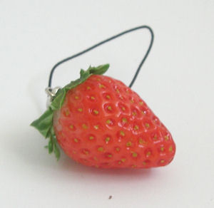 Mobile Phone Pendant Strawberry