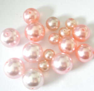Glass Pearl Beads PINK mix bag (GPPK23)