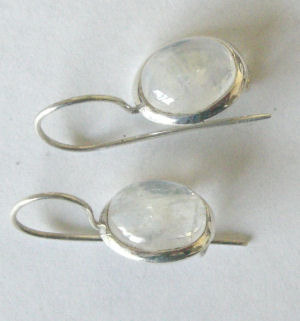Moonstone Silver Earrings  (ME06)
