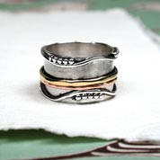 Spinning Ring - Silver with brass & Copper (A0001)