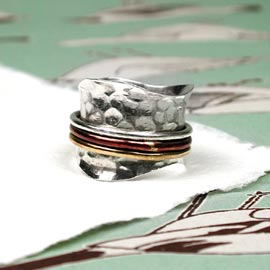 Spinning Ring - Silver with brass & Copper (A0003)