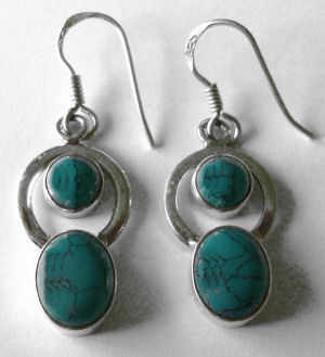 Turquoise Silver Earrings (TE10)