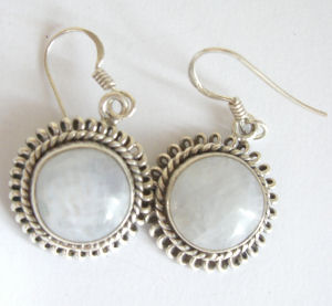 Moonstone Silver Earrings  (ME03)