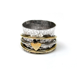 Spinning Ring - Sterling Silver with moving ring - POM (A0009)