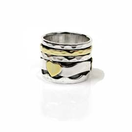 Spinning Ring - Sterling Silver with moving ring - POM (A0014)