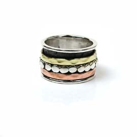 Spinning Ring - Sterling Silver with moving ring - POM (A0015)