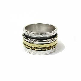 Spinning Ring - Sterling Silver with moving ring - POM (A0016)