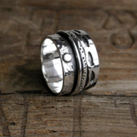Spinning Ring - Sterling Silver  - POM (A0018)