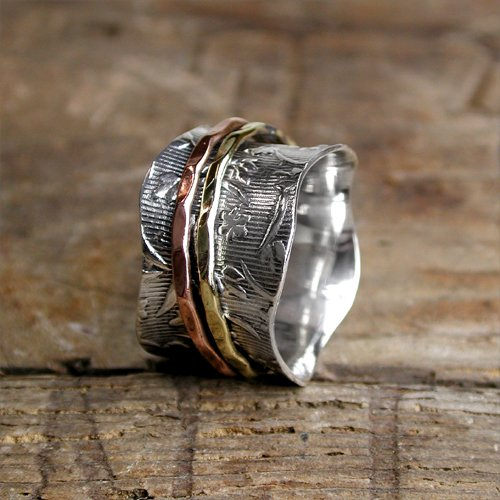 Spinning Ring - Sterling Silver with moving ring - POM (A0022)