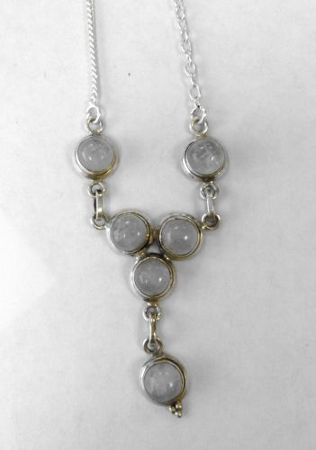 Moonstone Silver Necklace  (MN30)