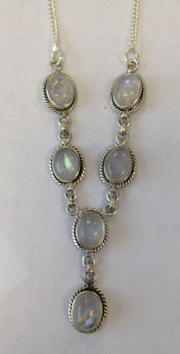 Moonstone Silver Necklace  (MN32)