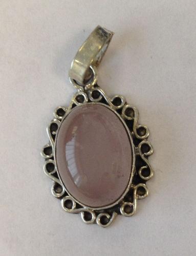 Moonstone Pink lustre Silver Pendant  (MP10)