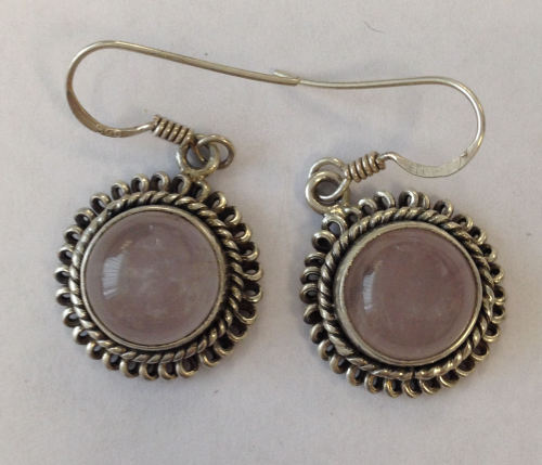 Moonstone Silver Earrings  (ME12)