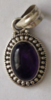 Amethyst silver pendant - mauve stone (AP01)