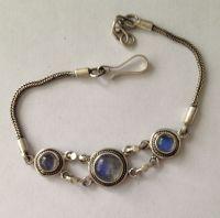 moonstone Silver Chain Bracelet  (MB21)