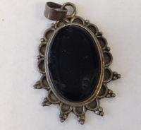 Black stone Obsidian pendant (BLKP36)