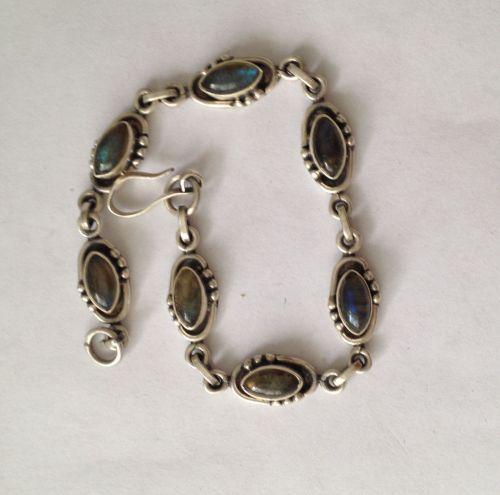 Labradorite Silver Bracelet (LABB7)