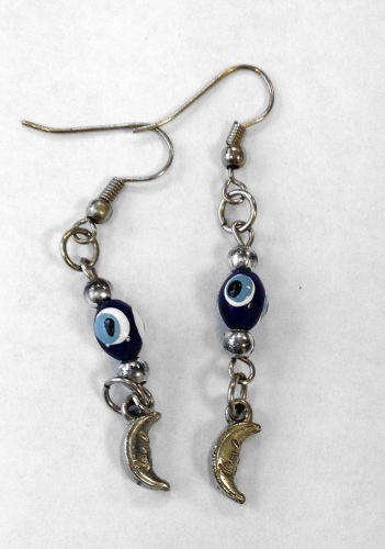 Evil Eye Blue Earrings  (EVEEr28