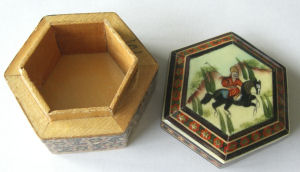 Trinket Box Persian Hand Painted Wood (TBhorse1)