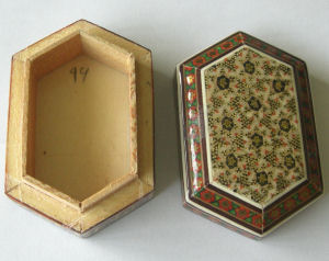 Trinket Box Persian Handmade Wooden (TBpatt1)