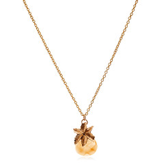Crystal Pineapple pendant necklace Gold Plated