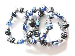 Evil Eye Blue Stretchie Bracelet  (EVEB40)