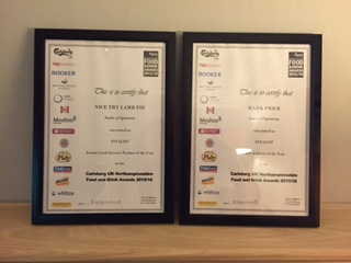 food and drink certificates