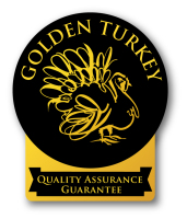 Golden Turkey label black