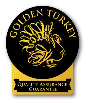Golden Turkey label black