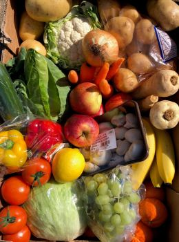 Large fruit and veg box from Smiths Farm Shop