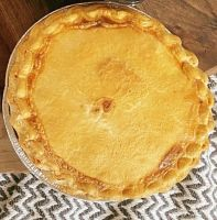 Large steak and onion pie