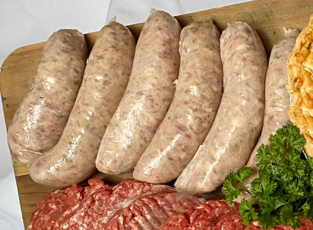 Saul's thick Lincolnshire sausages