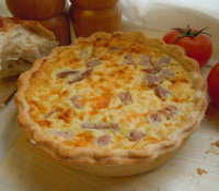 Cheese and ham quiche
