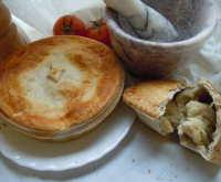 Large chicken and mushroom pie