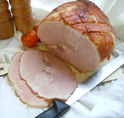 Honey roast cooked ham joint