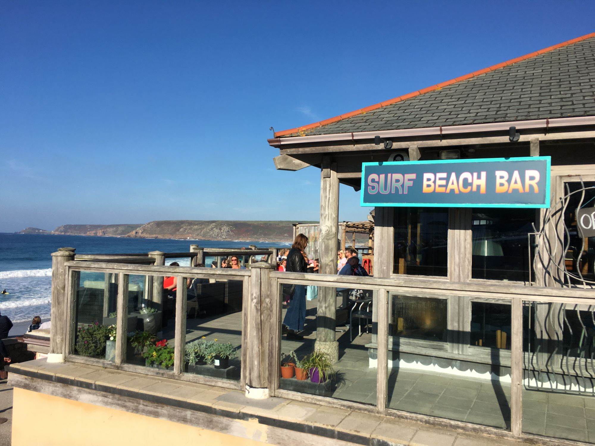 Surf beach bar and cafe Sennen Cove