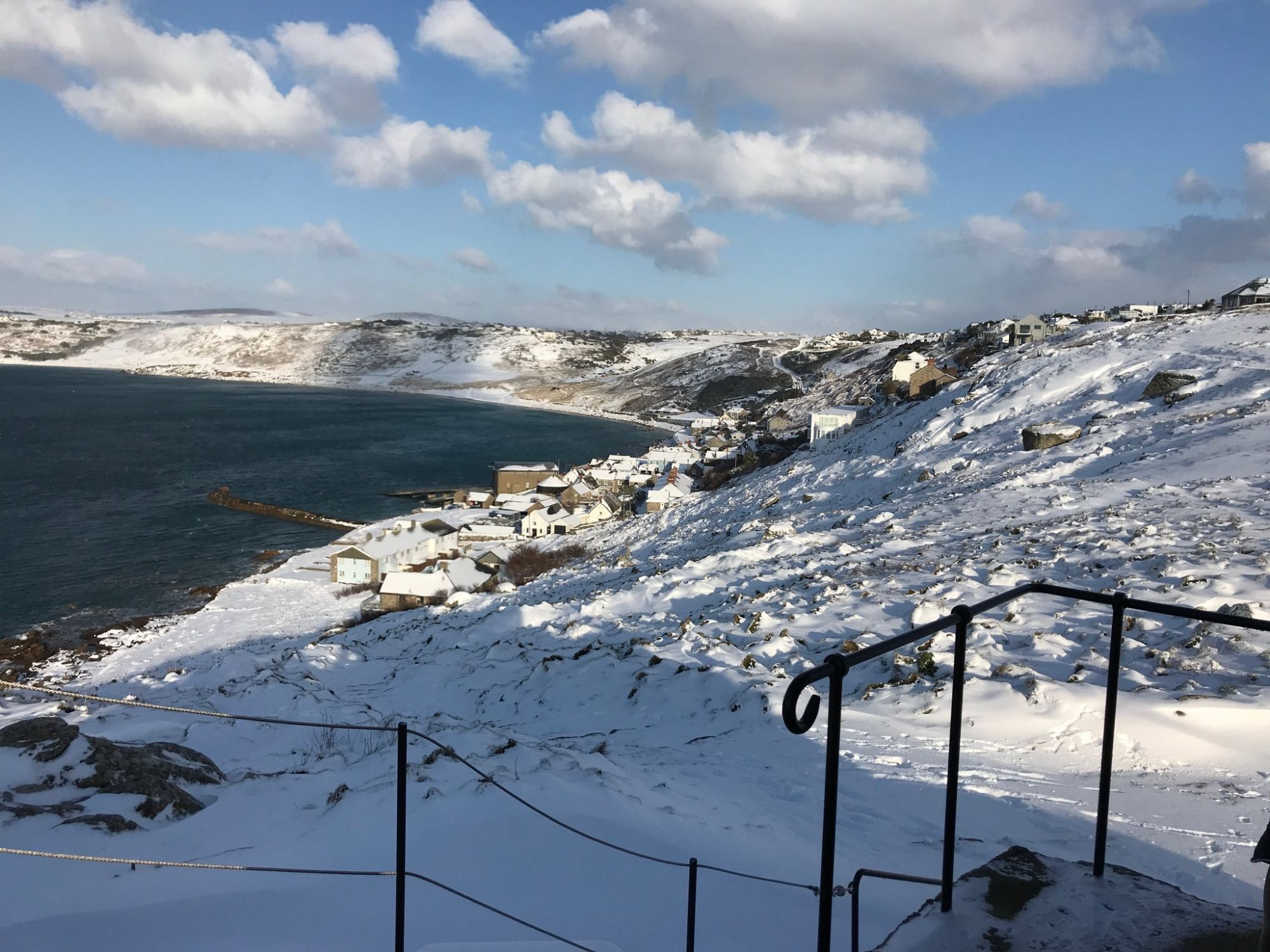 Snow in Sennen Cove