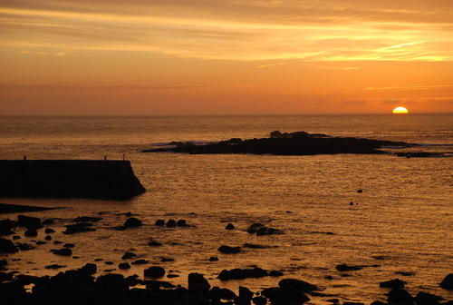 Sunset in Sennen Cove