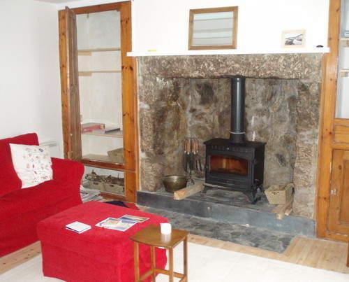 Downstairs - woodburner