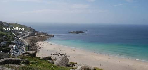 seaside holiday cottage Sennen Cornwall