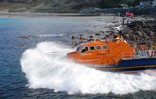 sennen cove lifeboat launch