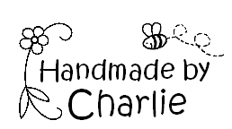 Personalised Handmade by stamp for kids