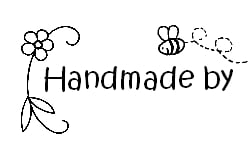 Handmade by stamp for kids