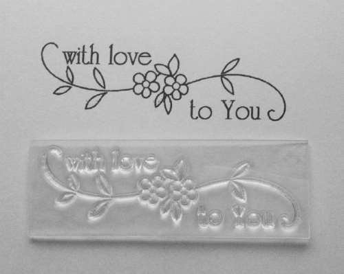With love to you swirly flower stamp